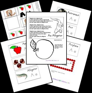 Free Alphabet Notebook Lapbook