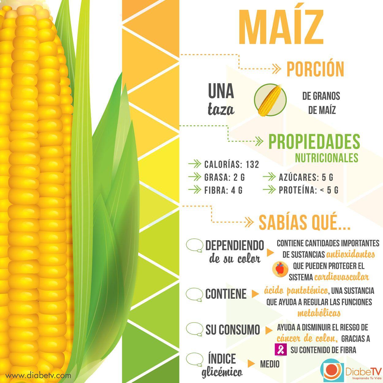 nutrientes de maiz amarillo