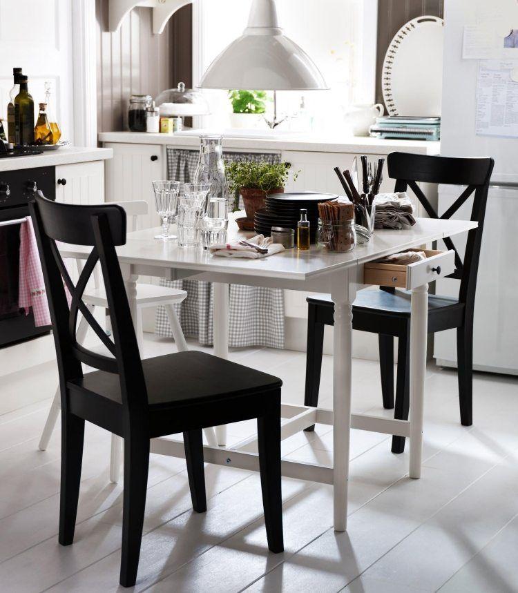 Ingatorp Klapptisch in Weiß für kleine Küchen geeignet Ikea - ikea kleine küchen
