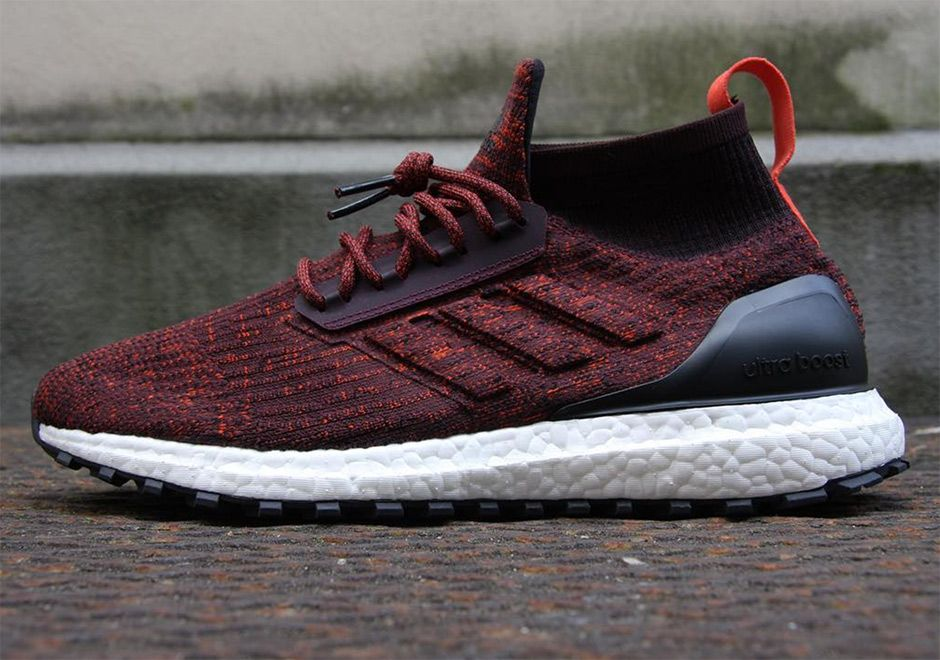 Adidas Ultra Boost Atr Mid Red Black With Images Adidas Ultra Boost Fashion Shoes Sneaker Shopping