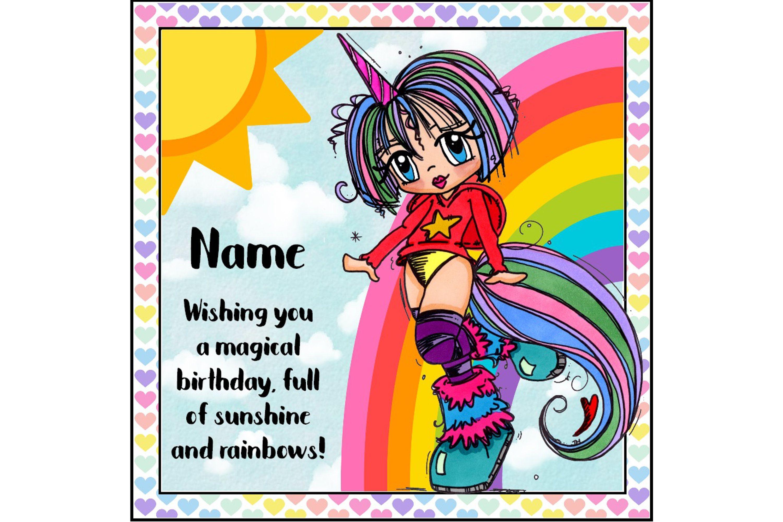 Unicorn girl birthday card birthday greetings magical birthday unicorn girl birthday card birthday greetings magical birthday rainbow card teenage birthday personalised birthday daughter card cute m4hsunfo