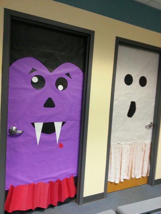 Halloween door decorations escuela pinterest puertas for Puertas decoradas halloween