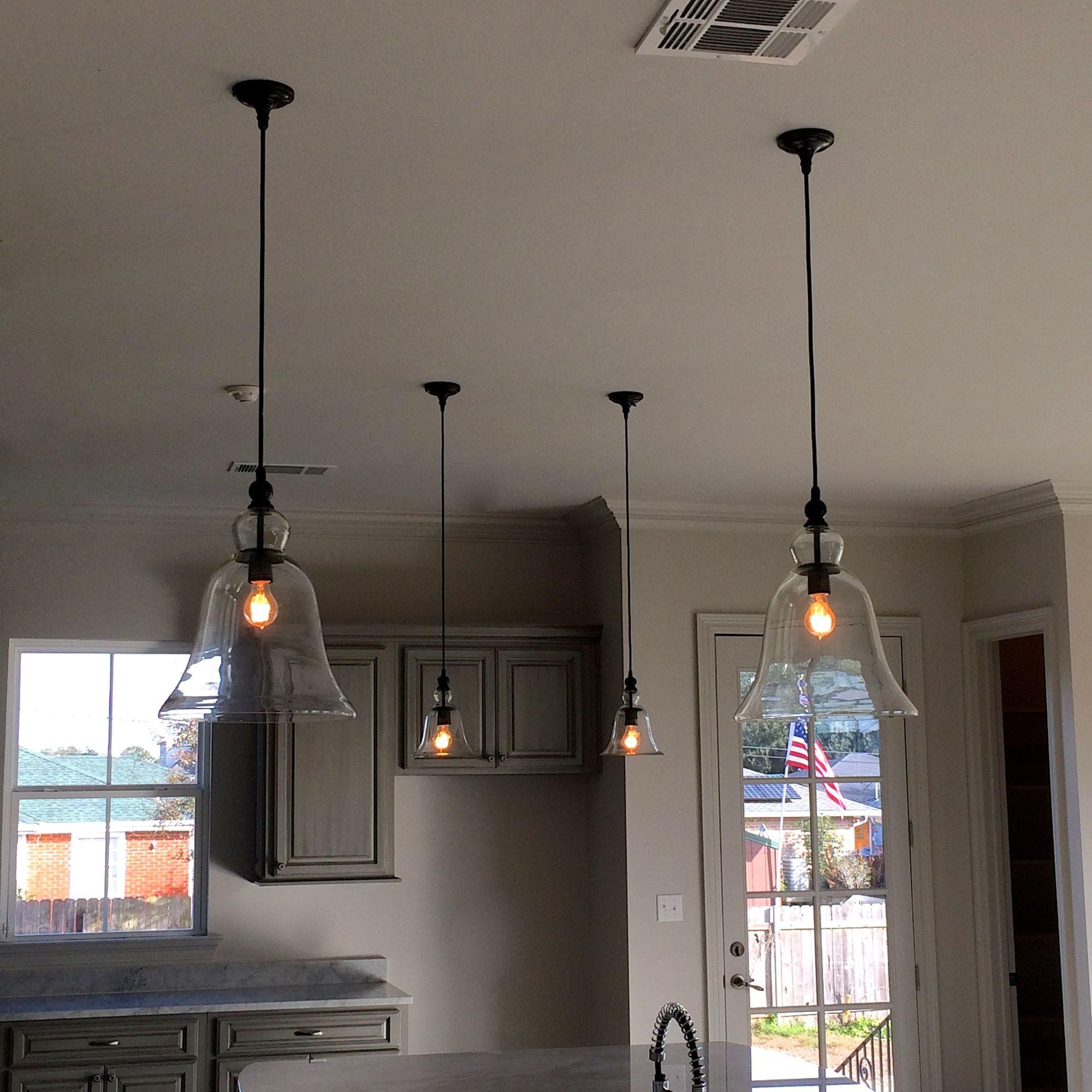Sedia elegante soggiorno laguna : Kitchen both large & medium glass bell hanging pendant lights