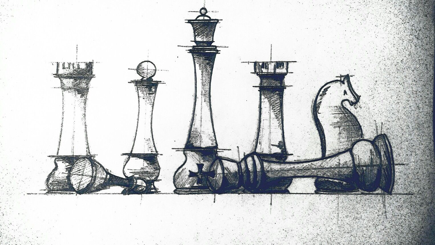 The game #king #queen #rook #chess #sketch | Sketches, Art