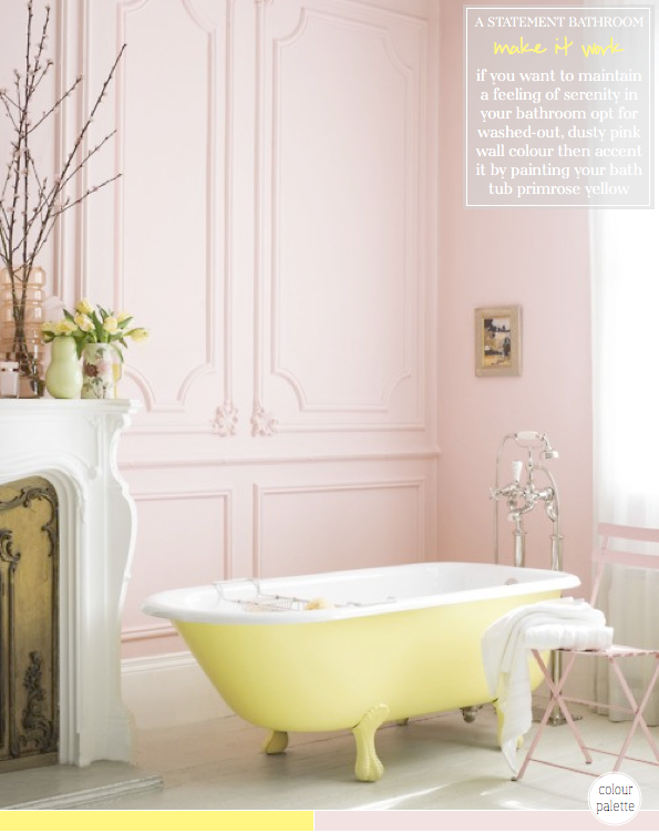 Colour Palette Yellow & Pink Bathroom  Tubs Bright And Bath Stunning Bathroom Bazaar Decorating Inspiration