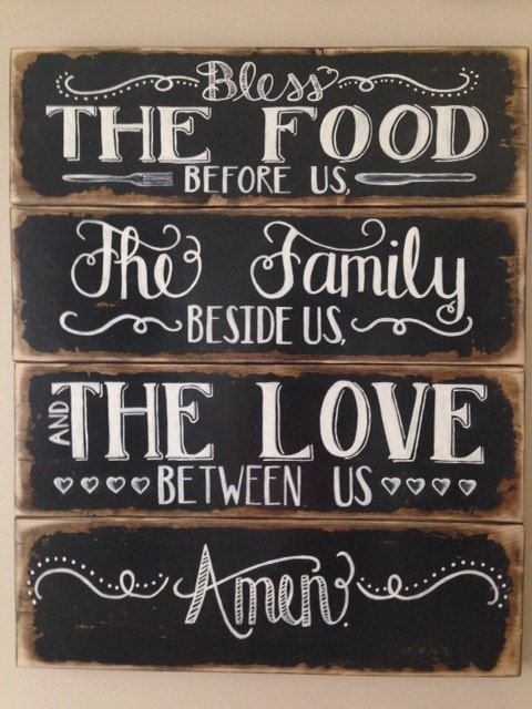 24 x 29 Bless the Food before Us The Family by DesignsbyRhondaLynn ...