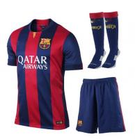 ae6d95011 FC Barcelona Home 14-15 Season Jersey Whole Kit (Shirt+Shorts+Socks ...