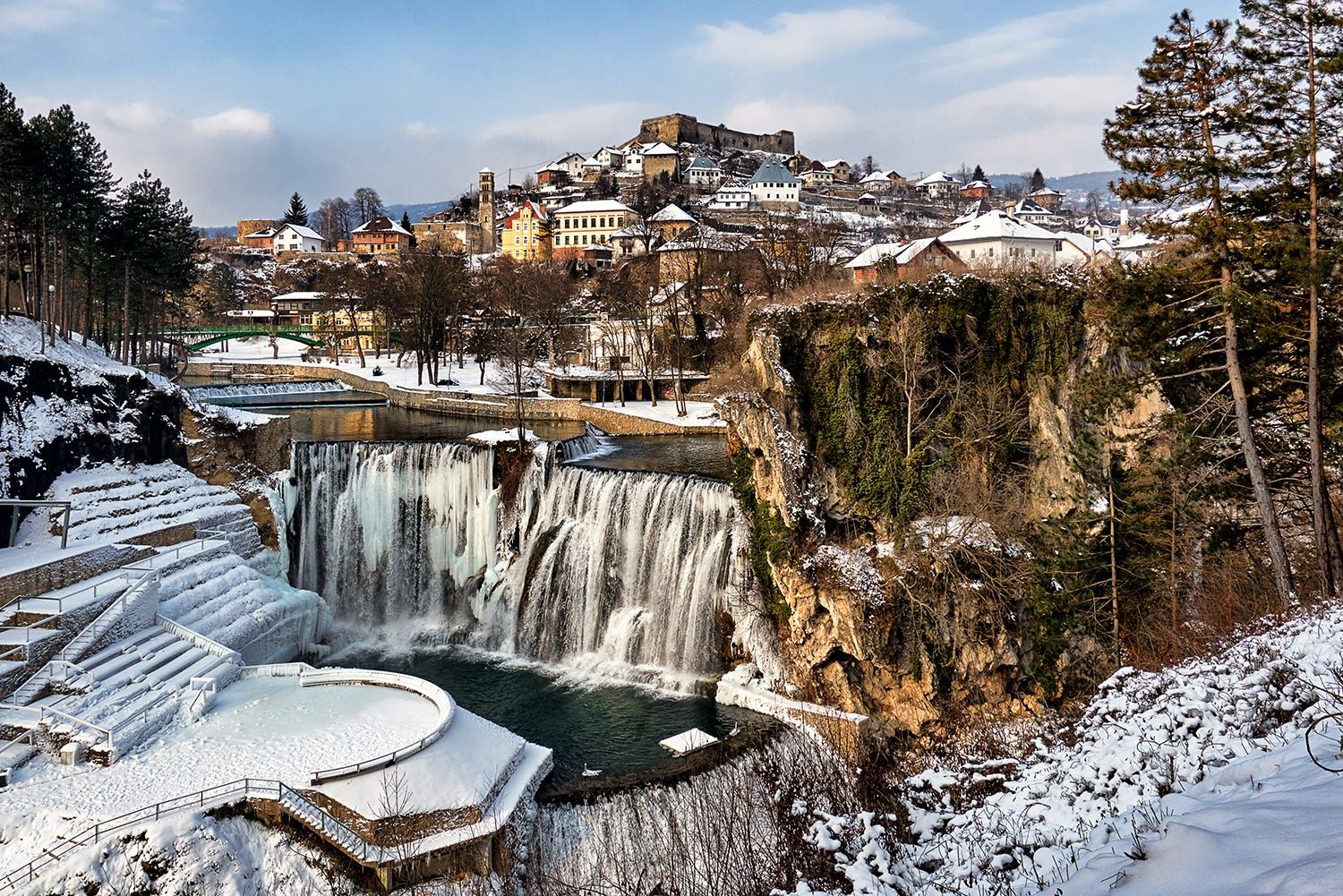 walled city of jajce a medieval fortified kingdom of on walled id=48019