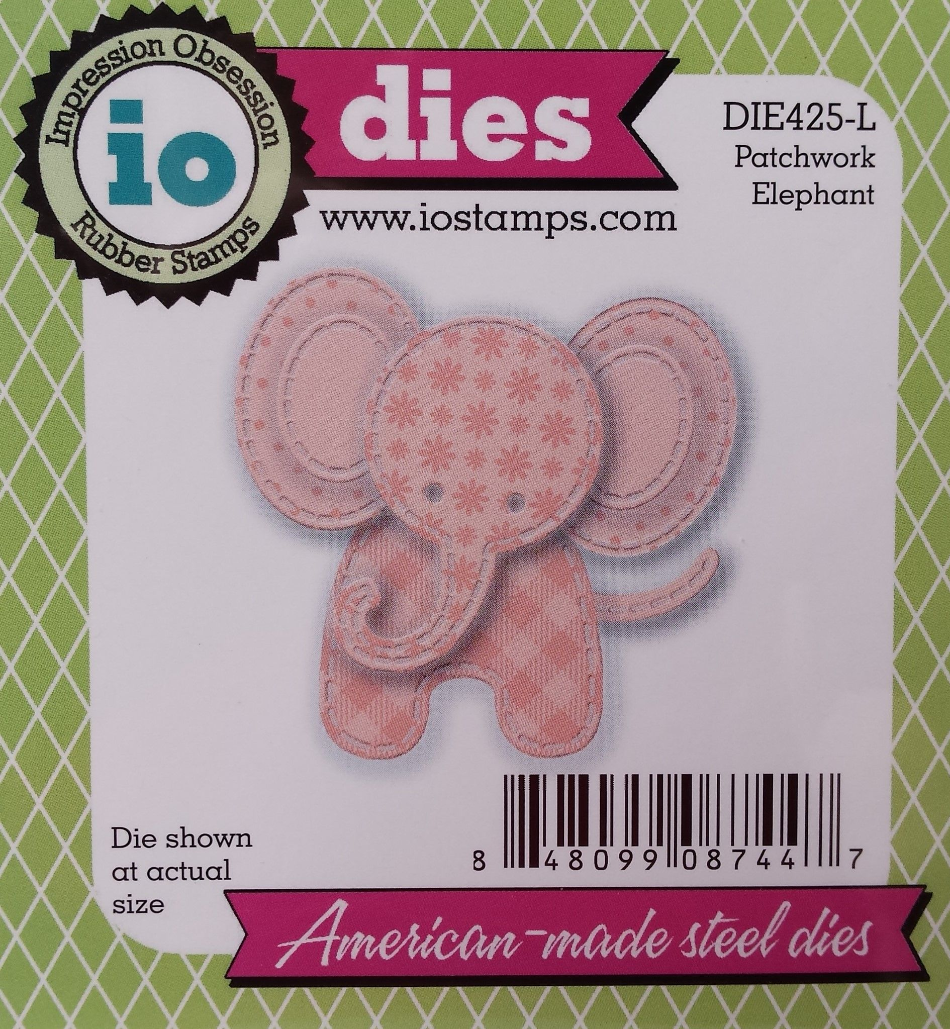 Elephant metal die Impression Obsession Cutting Dies DIE425-L Patchwork animal