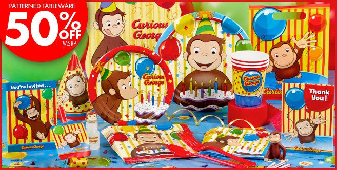 Curious George Party Supplies Birthday City Jeremiah Would Love This