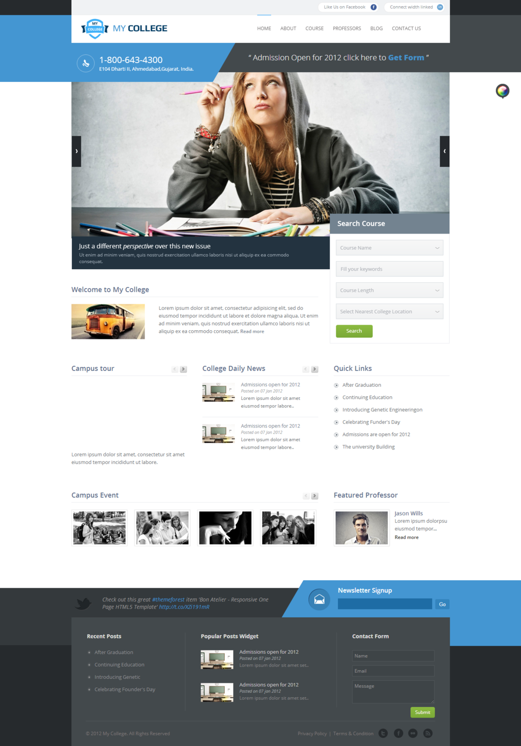Buy my college responsive education html template by krownthemes on themeforest my college is a modern college university school html template