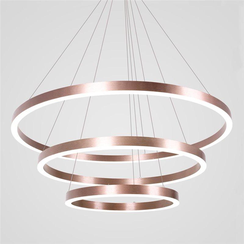 Modern Led Pendant Light Modern Three Rounds Led Lamp Living Room