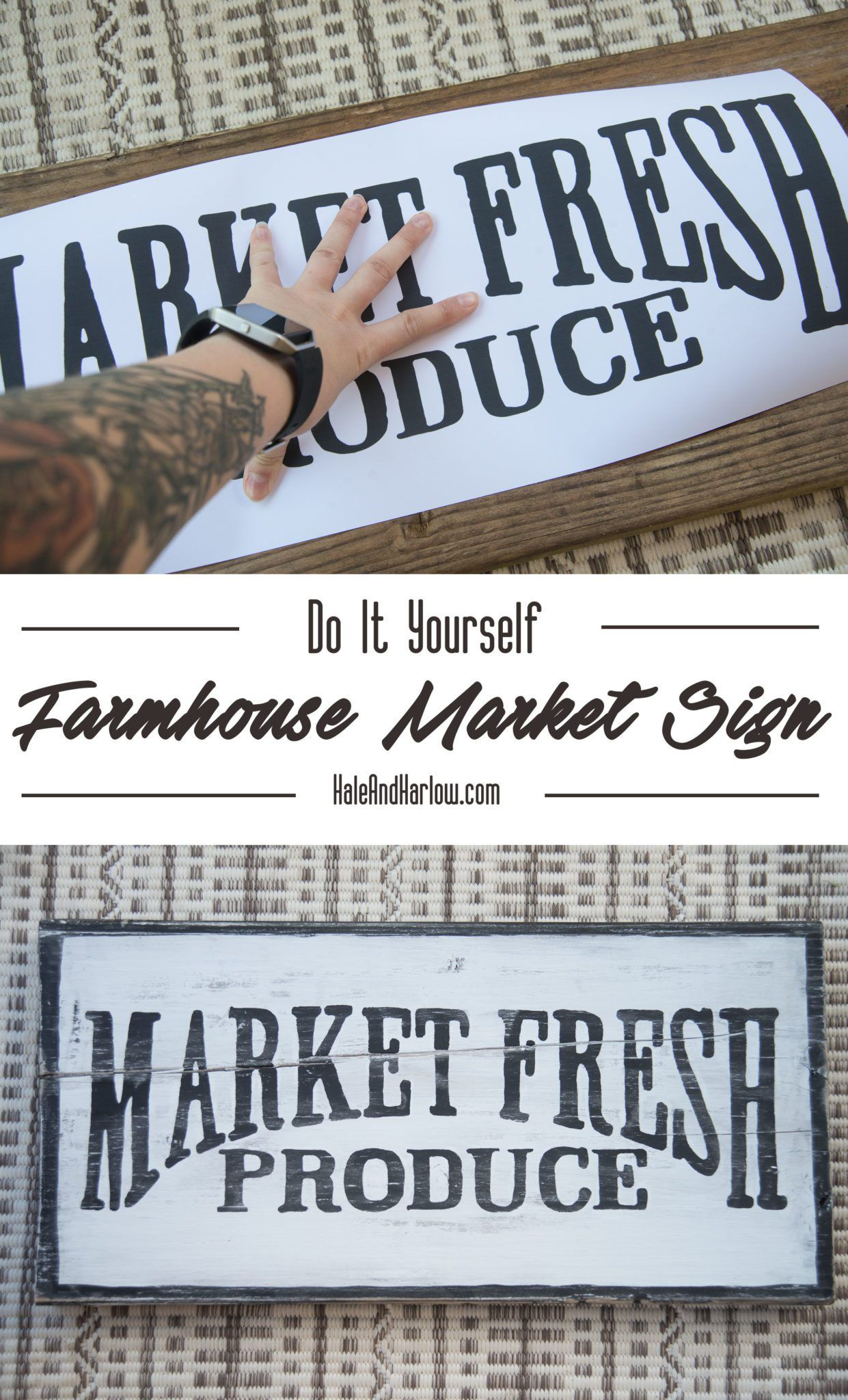 Right now, everyone is obsessing over the show Fixer Upper and everything that Joanna Gaines touches. And I'm with you! She's introduced us all to the wonders of farmhouse style, which features lots of rustic, antique pieces — and a lot of times, big ol signs thatwere once hanging instorefronts of the cutest little markets. …