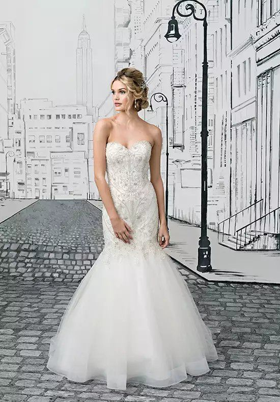 Justin Alexander 8896 Mermaid Wedding Dress | Wedding Dresses ...