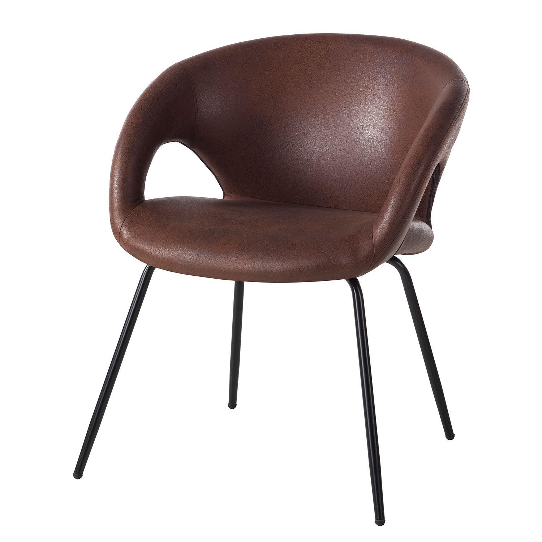 Malerisch Esszimmerstühle Metall Referenz Von Armlehnenstuhl Woodlawn Ii - Kunstleder / -