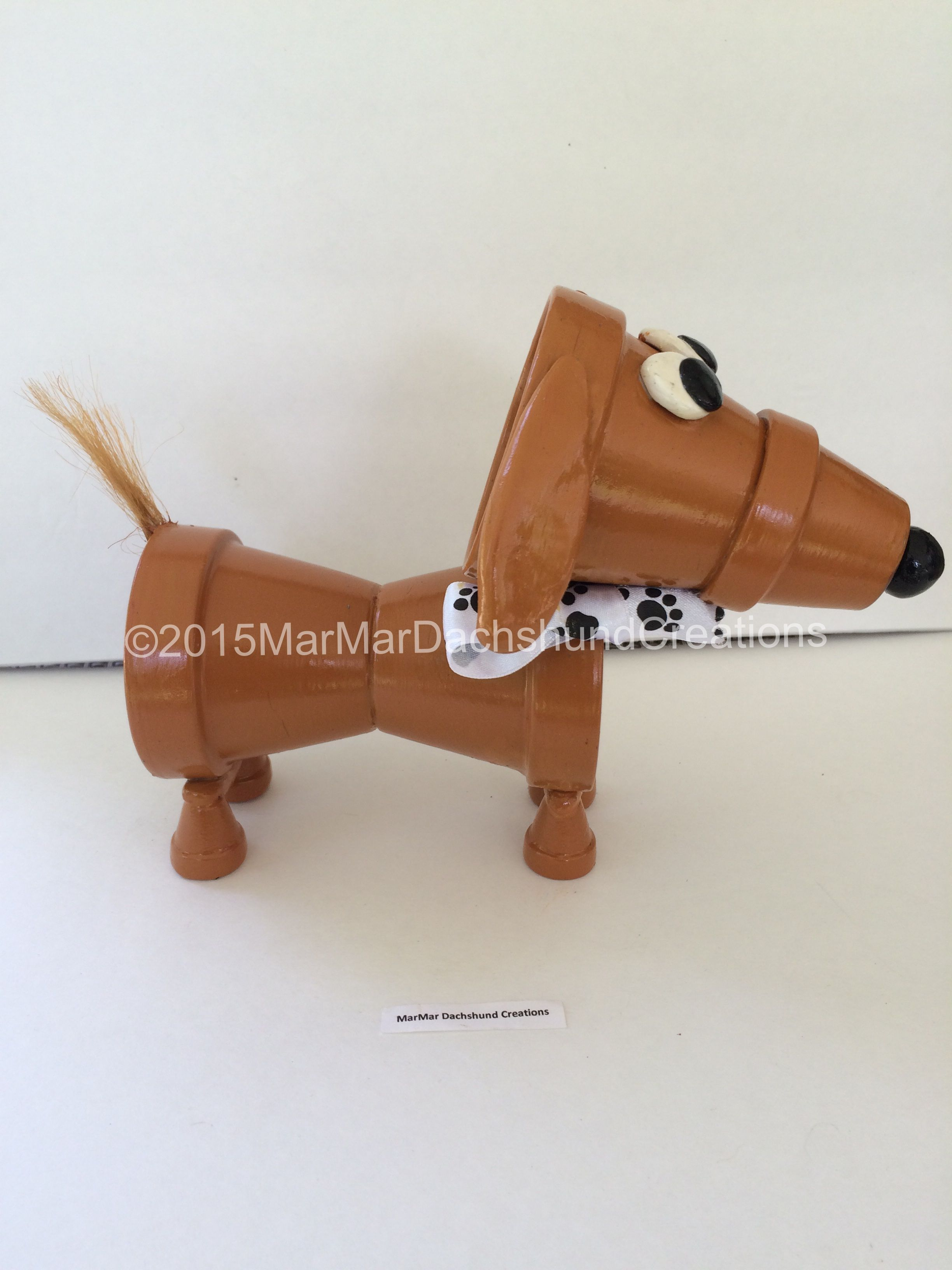 Small clay pots for crafts - Clay Pot Dog Dachshund