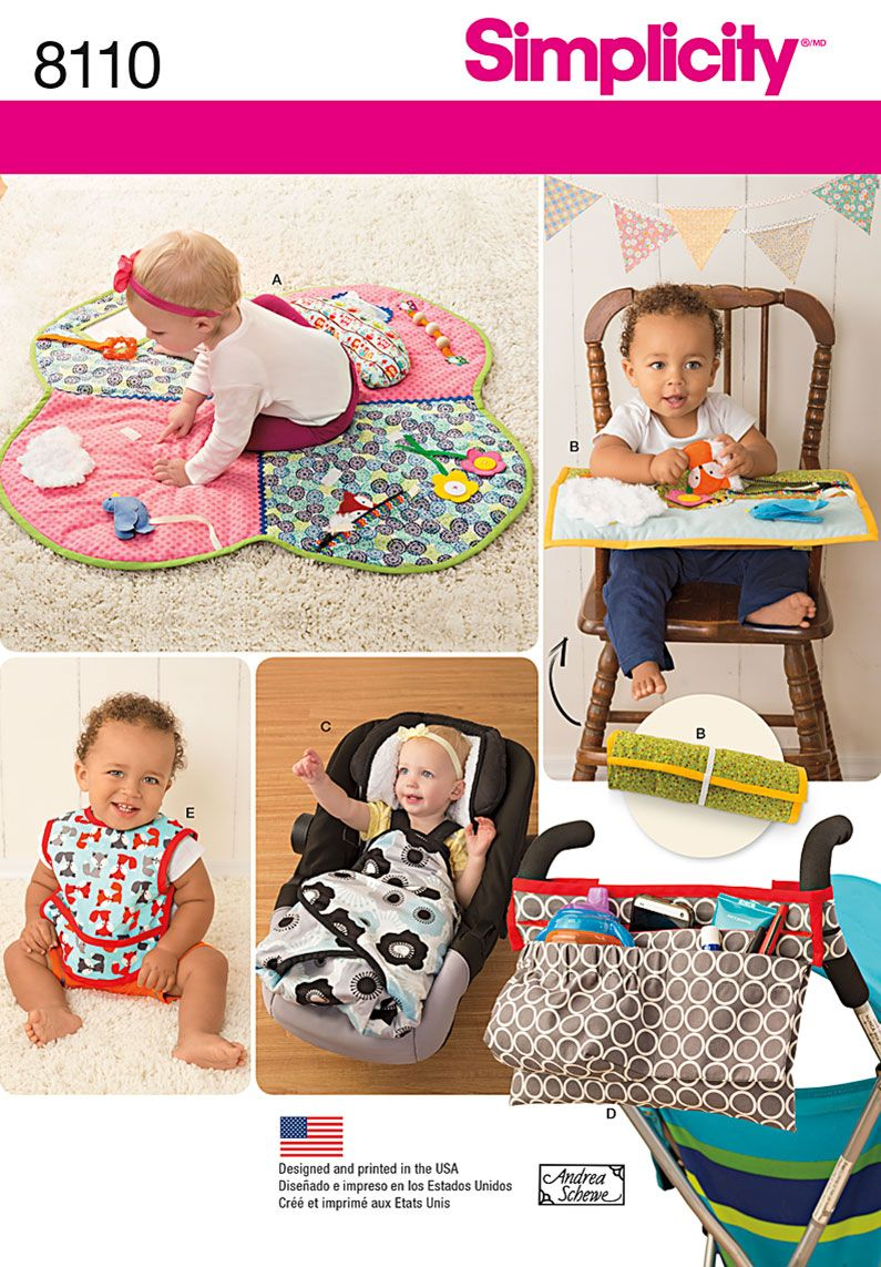 Simplicity Baby Easy Sewing Pattern 8110 Play Mats Stroller Accessories ...