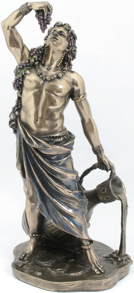 Dionysus Statue Sculpture Figurine From The Greek And Roman Reproduction Art Sculpture