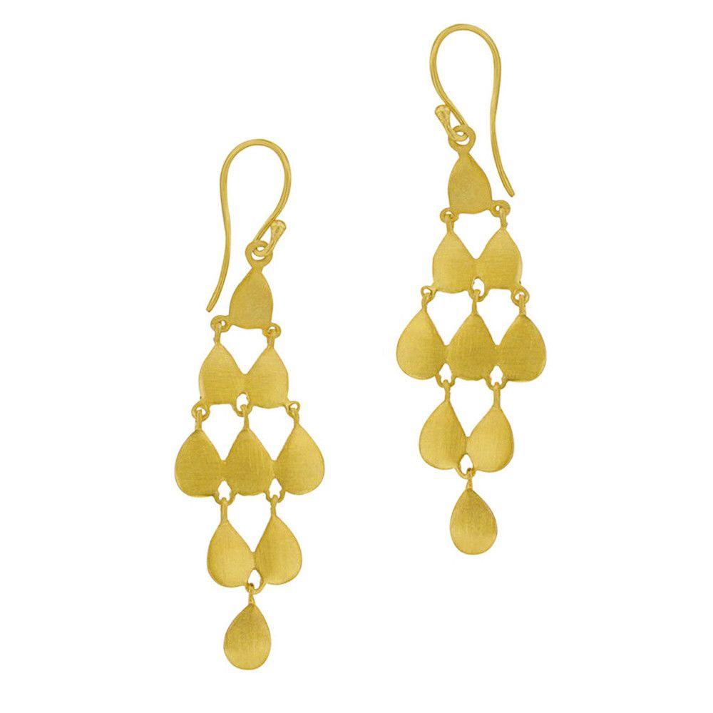 Golden Drops Cascade Earrings