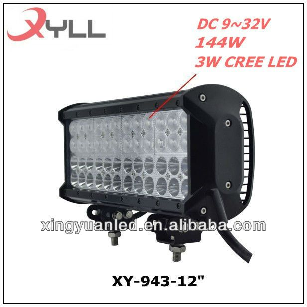 12 Cree Led Light Bar 48 X 3w 144w 9 32v Work Lamp Offroad Light Bar With Images Led Light Bars Work Lamp Bar Lighting