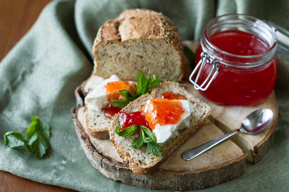 Homemade Jams!!!Each season has a wonderful choice of fruits, especially the summer time...refreshing water melon fragrant nectarines, juicy pears and many, many, more.....