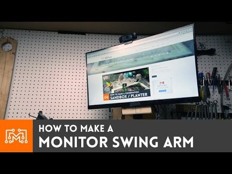Flat mount swinging screen tv