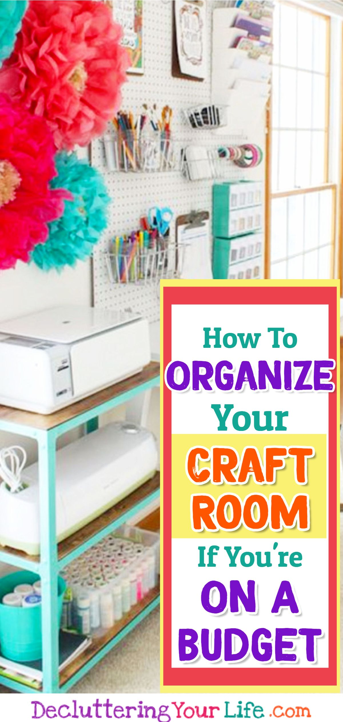 DIY Craftroom Organization - Unexpected & Creative Ways to Organize Your Craft Room on a Budget images