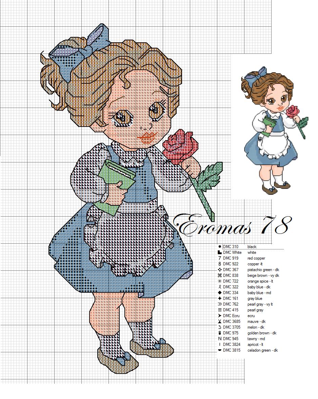 baby disney cross stitch scheme | Hobbies needlework - embroidery ...