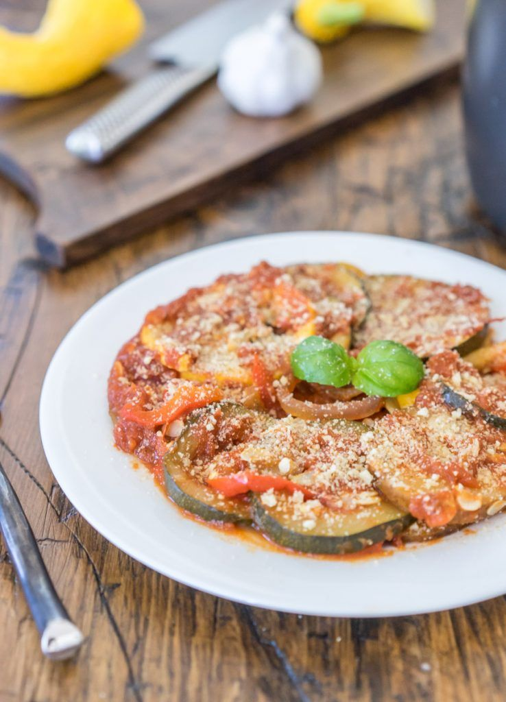 Easy Slow Cooker Potato Ratatouille