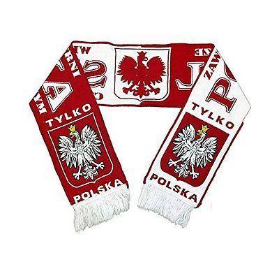 Polska Eagle Soccer Scarf - Zawsze Wierni Bialo Czerwonym