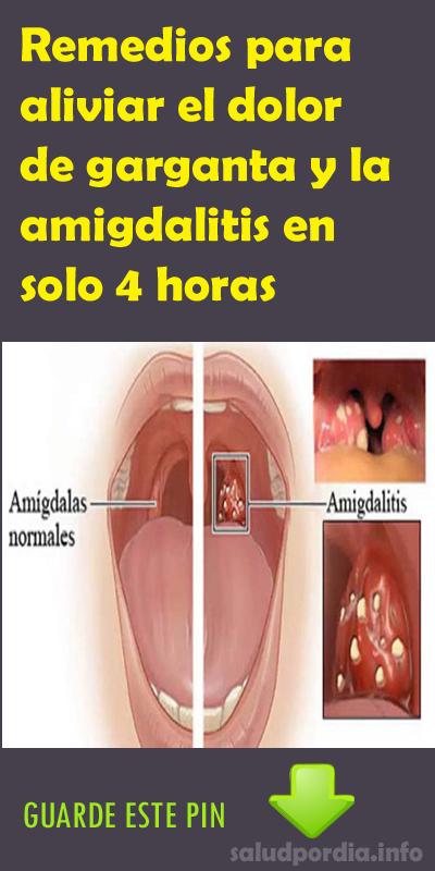 Remedios para aliviar el dolor de garganta y la amigdalitis en solo ...