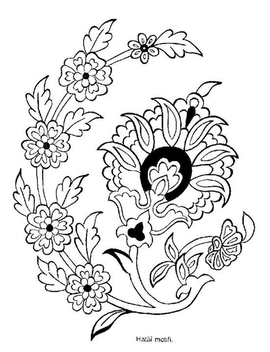 Pin de +90 505 en Çiçek çizimi | Pinterest | Patrones de bordado ...