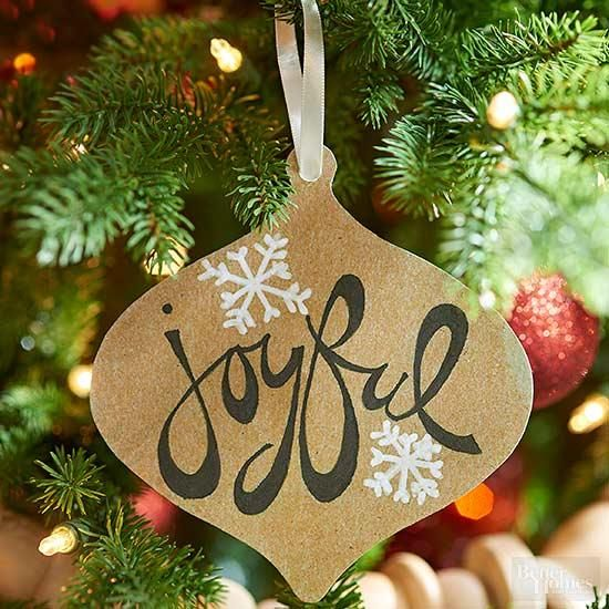 Fill a whole tree with variations on these easy Christmas ornaments made  from cardstock. Print the ornament pattern, and cut out the patterns. - 42 Simple & Beautiful Handmade Christmas Ornaments Christmas