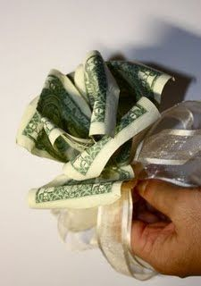 Easy Dollar Money Flower Origami Tutorial DIY Bills Gift Paper ... | 320x225