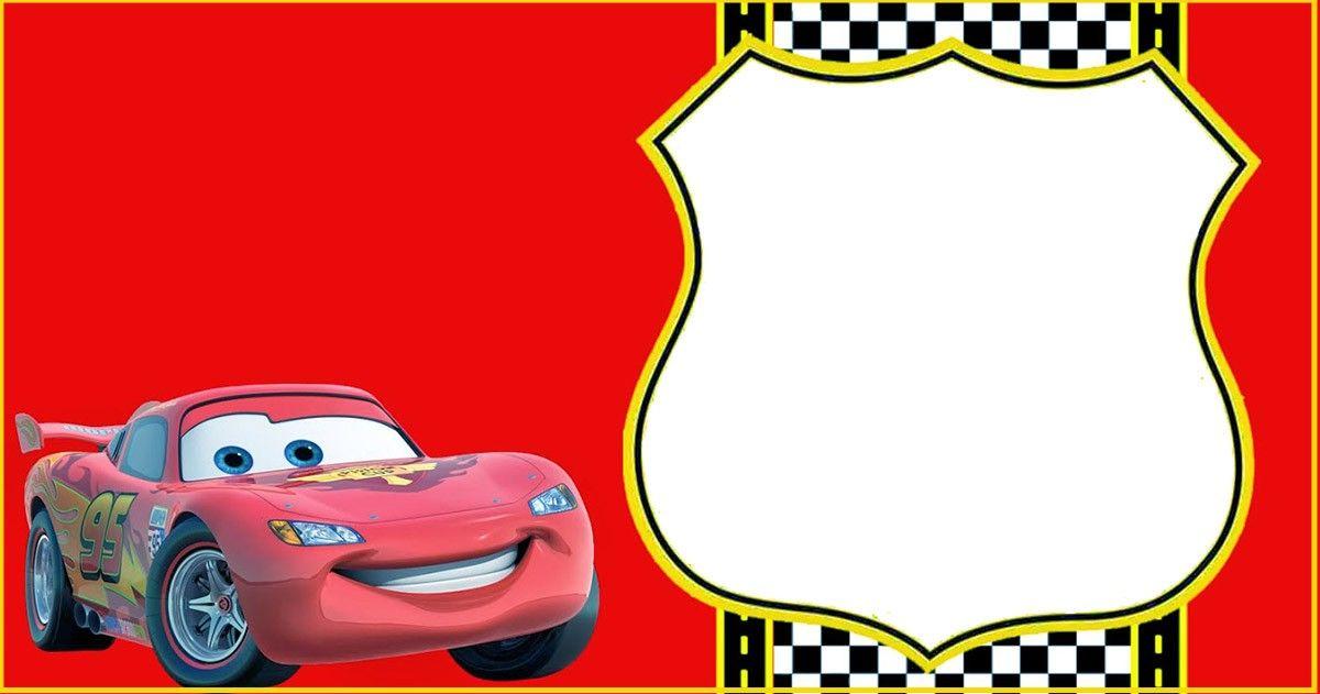 Lightning Mcqueen Invitation Template Cars Birthday Invitations Cars Invitation Birthday Invitation Templates