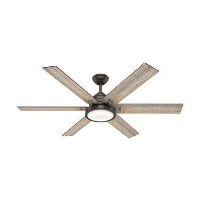Hunter Fan 60 Warrant 6 Blade Ceiling Fan With Light Kit Included