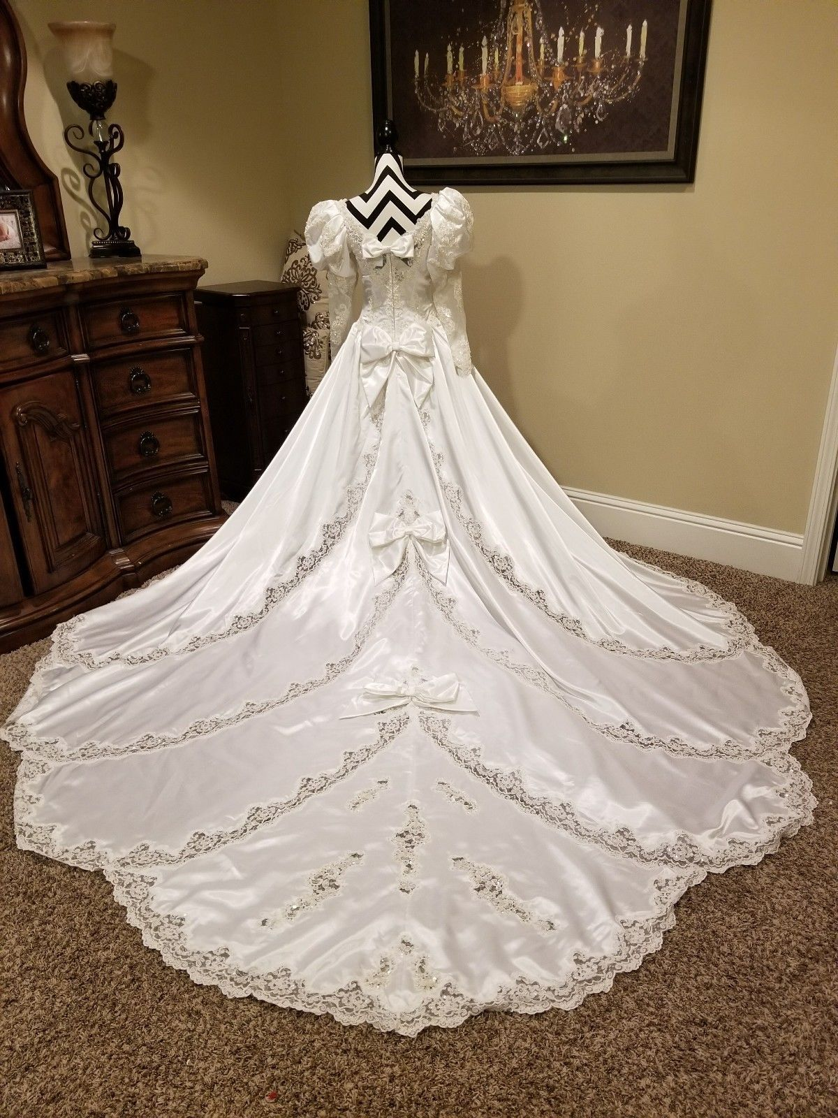 Vintage 80s 90s Wedding Dress Gown Size 6 Victorian Puff Sleeves Long Train Mint 90s Wedding Dress Wedding Dresses Beautiful Wedding Gowns [ 1600 x 1200 Pixel ]