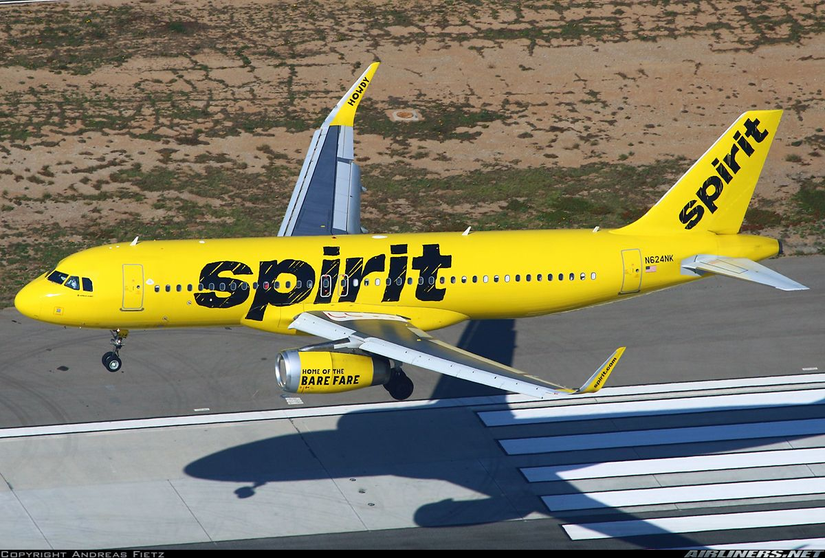 Spirit Airlines Airbus A320 232 N624nk Over The Piano Keys At Los Angeles International October 2018 Photo Andreas Fietz Spirit Airlines Airlines Airbus