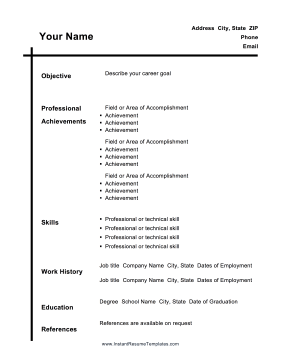 Free Resume Download Templates A Black Vertical Line Intersects A Horizontal Header Line In This