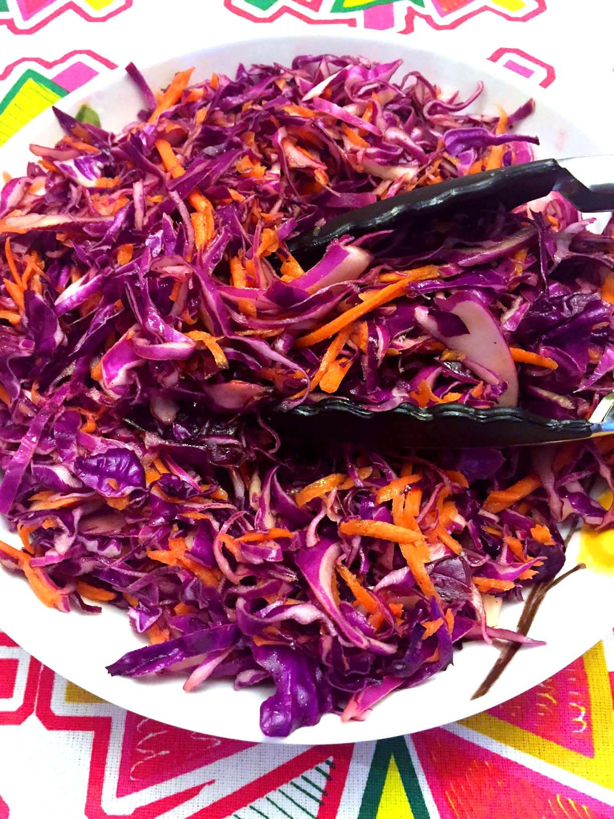 Healthy Red Cabbage Slaw Recipe Recipe Red Cabbage Slaw Recipes Red Cabbage Slaw Cabbage Slaw Recipes