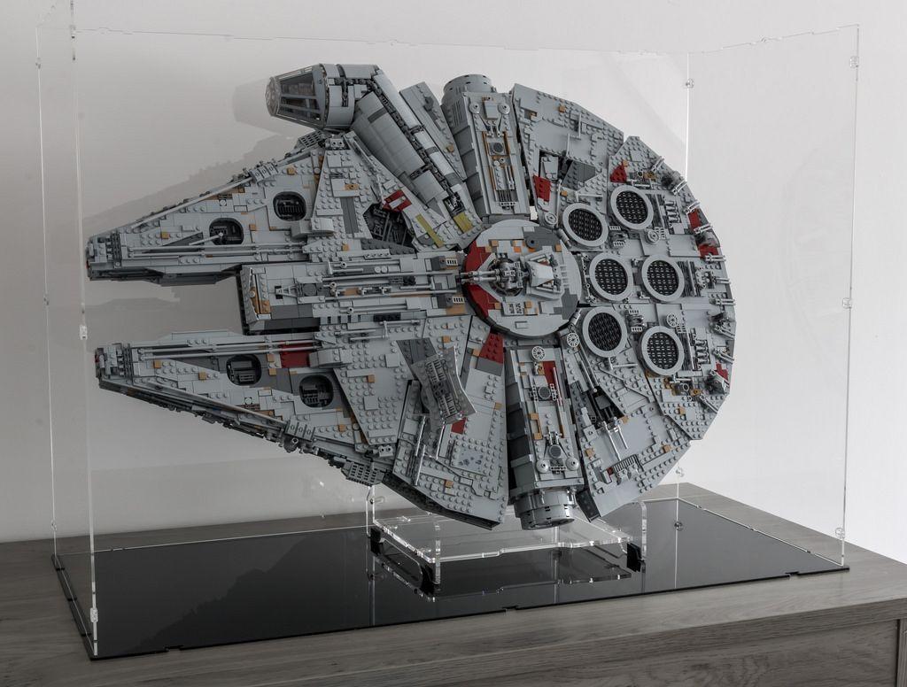 Display Ideas For Lego 75192 Ucs Millennium Falcon Candidbricks Lego Display Star Wars Collection Display Star Wars Room