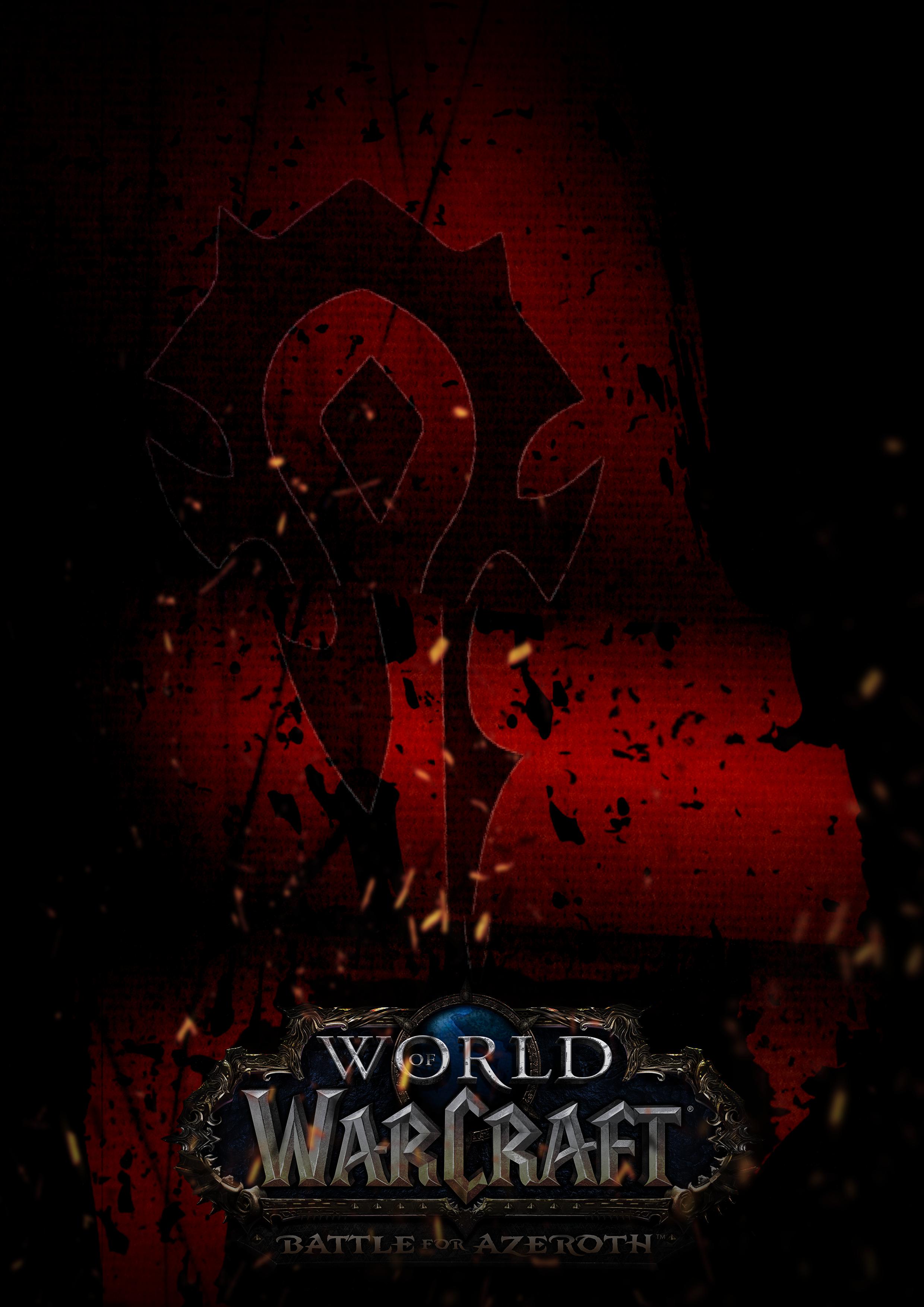 World Of Warcraft Battle For Azeroth Poster Horde Fan Art