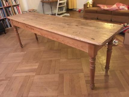Alter Küchentisch ~ Alter tisch esstisch tafel gesindetisch wirtshaustisch patina
