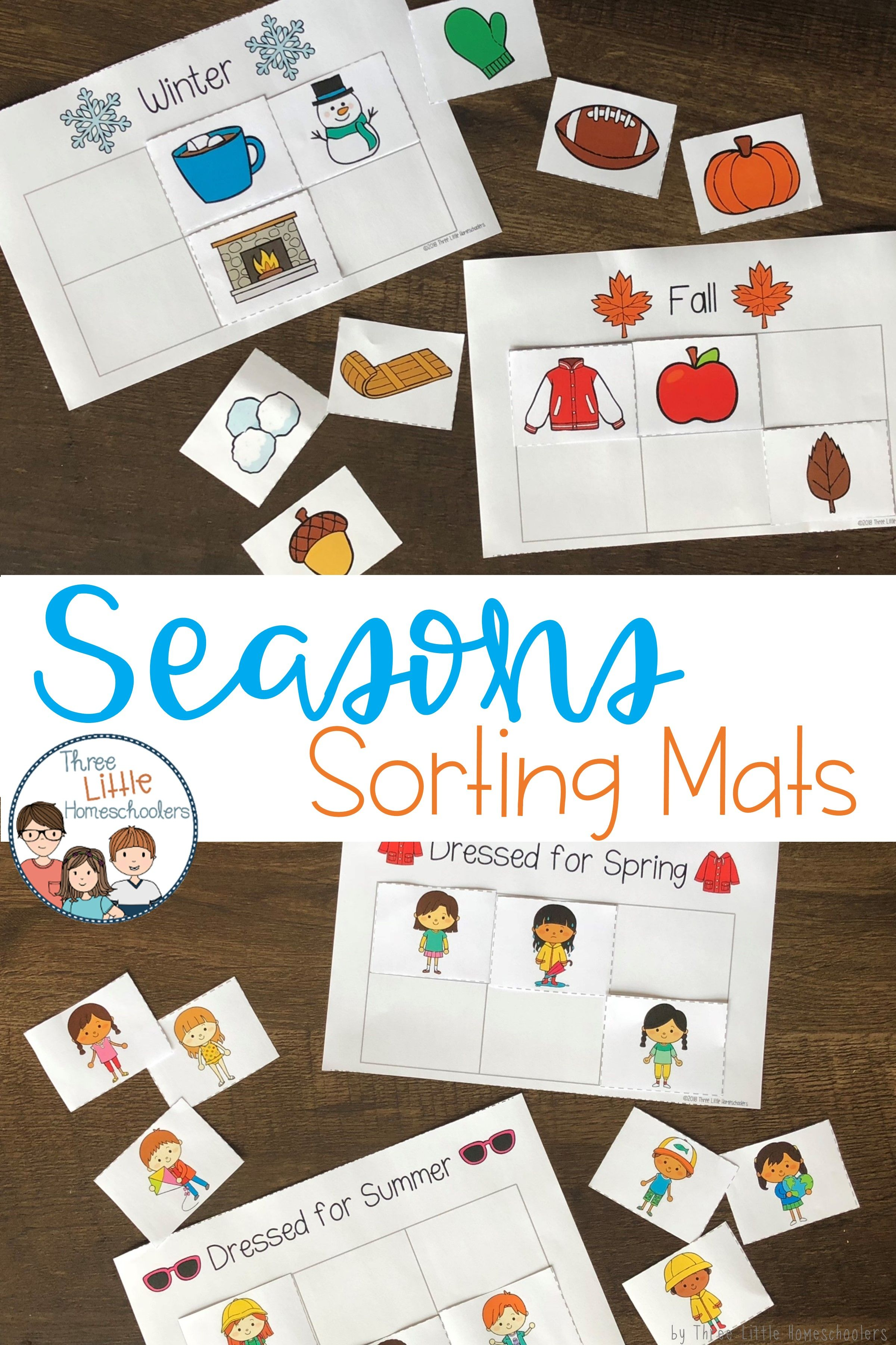 Learn About The Seasons With These Sorting Mats Sort Fall