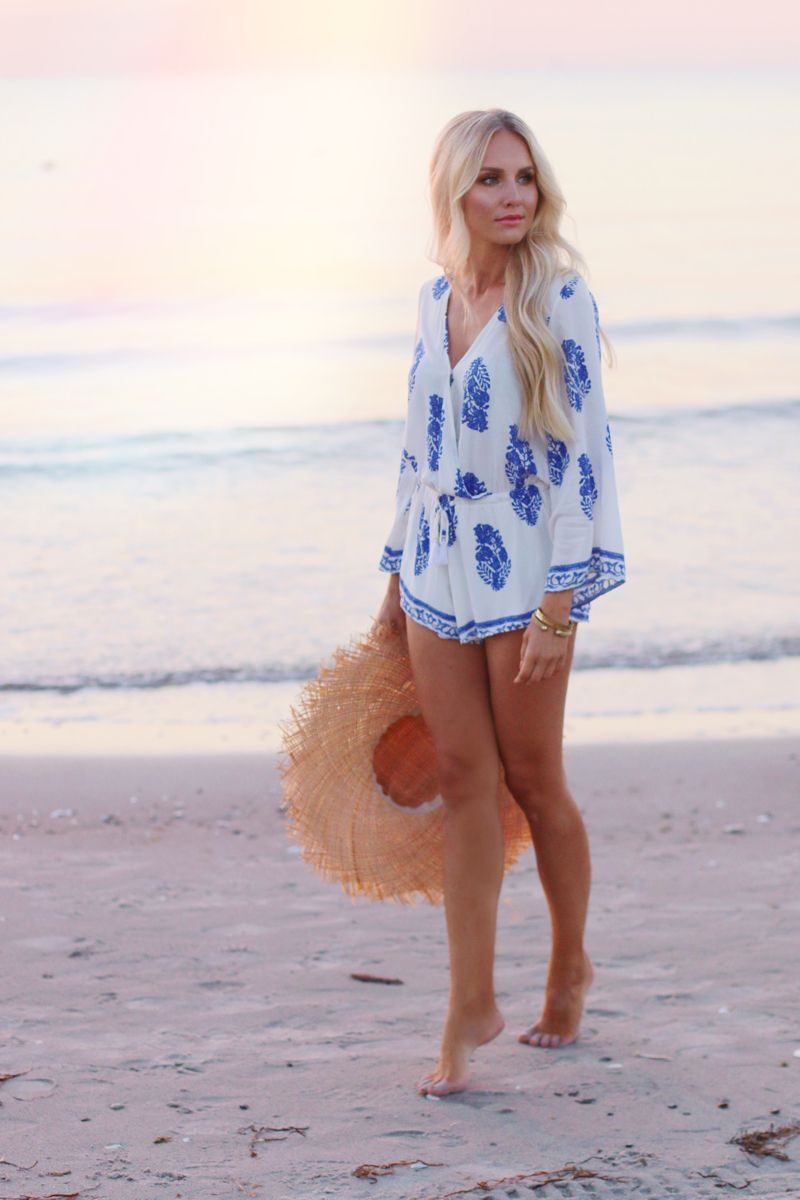 de5b8a94b8 Summer Outfit Lookbook Store Playsuit Romper Blue White