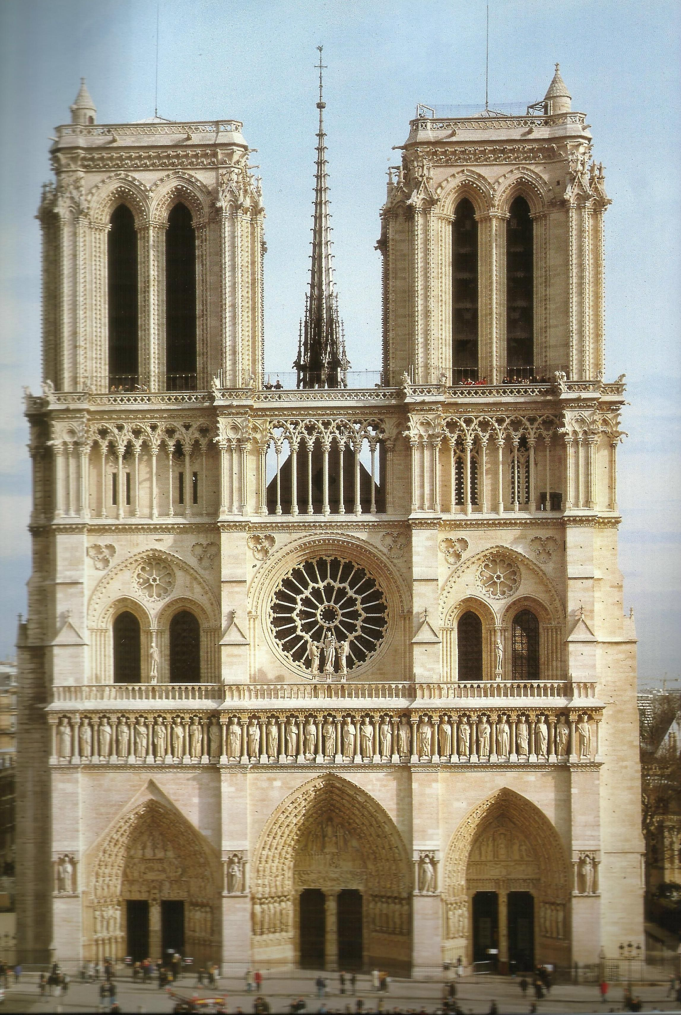 Notre Dame Cathedral Paris West Facade Ancient Roman Architecture French Gothic Architecture French Architecture