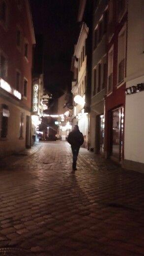 독일의 밤거리
