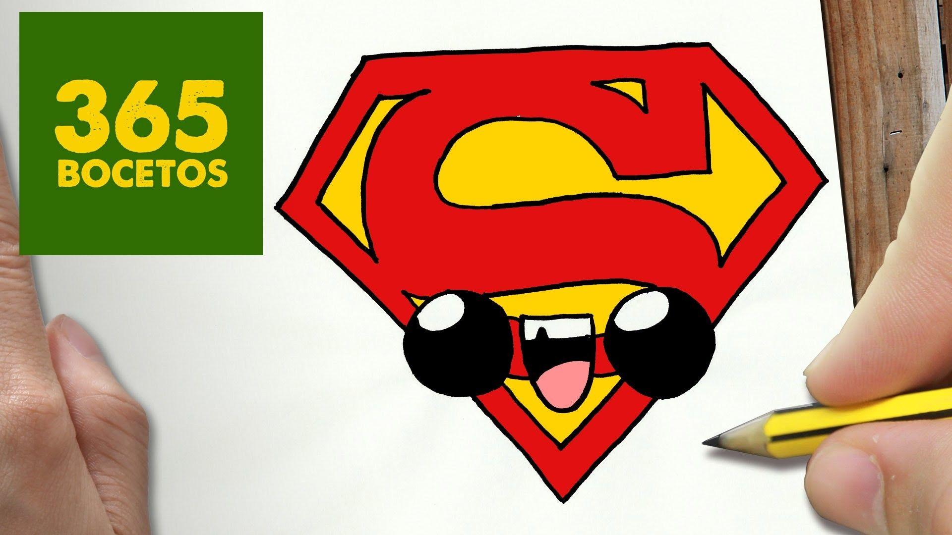 Como Dibujar Escudo Superman Kawaii Paso A Paso Dibujos Kawaii