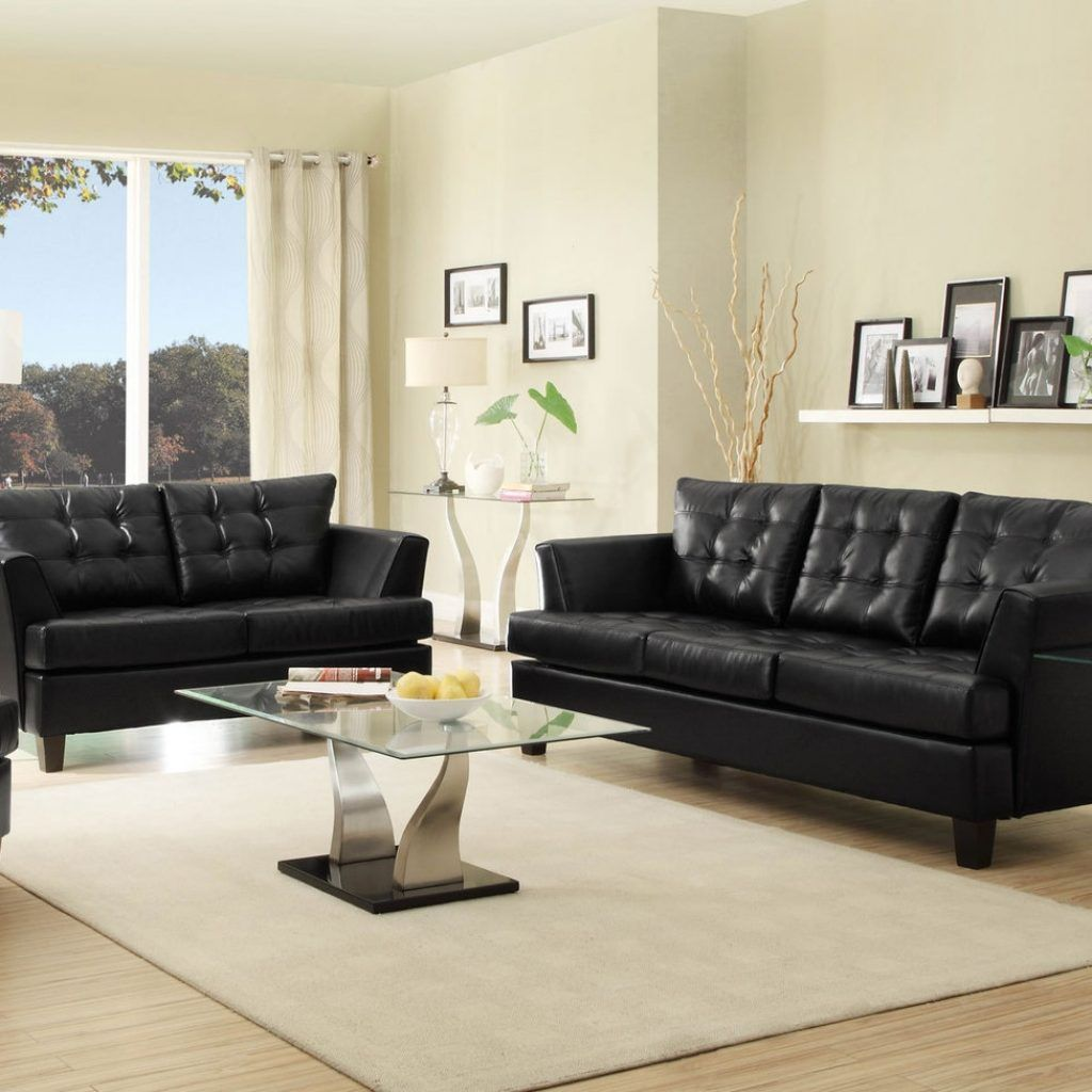 Black Faux Leather Living Room Set Black Leather Sofa Living Room Leather Sofa Living Room Sofas For Small Spaces