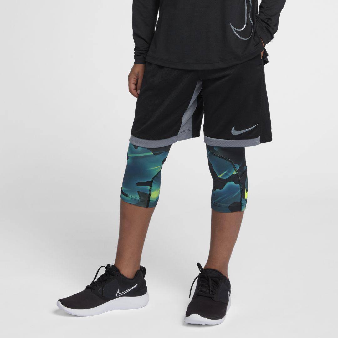 1777b463fc322 Nike Pro Big Kids' (Boys') 3/4 Printed Training Tights Size XL (Blue Force)